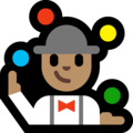 Person Juggling: Medium Skin Tone on Microsoft Windows 10 Fall Creators Update