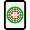 Mahjong Tile One of Circles on Microsoft Windows 10 Fall Creators Update