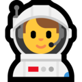 Man Astronaut on Microsoft Windows 10 Fall Creators Update