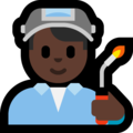 Man Factory Worker: Dark Skin Tone on Microsoft Windows 10 Fall Creators Update