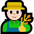 Man Farmer: Light Skin Tone on Microsoft Windows 10 Fall Creators Update