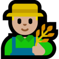 Man Farmer: Medium-Light Skin Tone on Microsoft Windows 10 Fall Creators Update