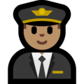 Man Pilot: Medium Skin Tone on Microsoft Windows 10 Fall Creators Update