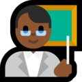 Man Teacher: Medium-Dark Skin Tone on Microsoft Windows 10 Fall Creators Update