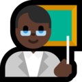 Man Teacher: Dark Skin Tone on Microsoft Windows 10 Fall Creators Update