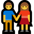 Man and Woman Holding Hands on Microsoft Windows 10 Fall Creators Update