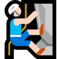 Man Climbing: Light Skin Tone on Microsoft Windows 10 Fall Creators Update