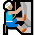 Man Climbing: Medium-Light Skin Tone on Microsoft Windows 10 Fall Creators Update