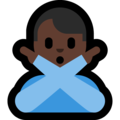 Man Gesturing No: Dark Skin Tone on Microsoft Windows 10 Fall Creators Update