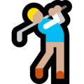Man Golfing: Medium-Light Skin Tone on Microsoft Windows 10 Fall Creators Update