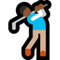 Man Golfing: Medium-Dark Skin Tone on Microsoft Windows 10 Fall Creators Update