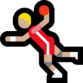 Man Playing Handball: Medium-Light Skin Tone on Microsoft Windows 10 Fall Creators Update
