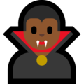 Man Vampire: Medium-Dark Skin Tone on Microsoft Windows 10 Fall Creators Update