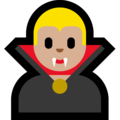 Man Vampire: Medium-Light Skin Tone on Microsoft Windows 10 Fall Creators Update