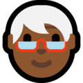 Older Adult: Medium-Dark Skin Tone on Microsoft Windows 10 Fall Creators Update