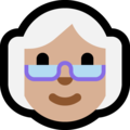 Old Woman: Medium-Light Skin Tone on Microsoft Windows 10 Fall Creators Update