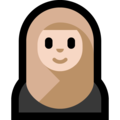 Person With Headscarf: Light Skin Tone on Microsoft Windows 10 Fall Creators Update