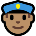 Police Officer: Medium Skin Tone on Microsoft Windows 10 Fall Creators Update