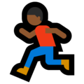 Person Running: Medium-Dark Skin Tone on Microsoft Windows 10 Fall Creators Update
