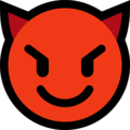 Smiling Face With Horns on Microsoft Windows 10 Fall Creators Update