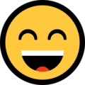 Smiling Face With Open Mouth & Smiling Eyes on Microsoft Windows 10 Fall Creators Update