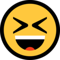 Smiling Face With Open Mouth & Closed Eyes on Microsoft Windows 10 Fall Creators Update