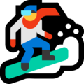 Snowboarder on Microsoft Windows 10 Fall Creators Update