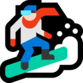 Snowboarder: Light Skin Tone on Microsoft Windows 10 Fall Creators Update