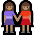 Two Women Holding Hands, Type-4 on Microsoft Windows 10 Fall Creators Update