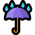 Umbrella With Rain Drops on Microsoft Windows 10 Fall Creators Update