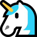 Unicorn Face on Microsoft Windows 10 Fall Creators Update