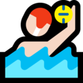 Person Playing Water Polo: Light Skin Tone on Microsoft Windows 10 Fall Creators Update