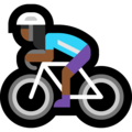 Woman Biking: Medium-Dark Skin Tone on Microsoft Windows 10 Fall Creators Update