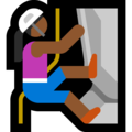 Woman Climbing: Medium-Dark Skin Tone on Microsoft Windows 10 Fall Creators Update