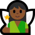 Woman Fairy: Medium-Dark Skin Tone on Microsoft Windows 10 Fall Creators Update