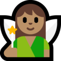 Woman Fairy: Medium Skin Tone on Microsoft Windows 10 Fall Creators Update