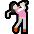 Woman Golfing: Light Skin Tone on Microsoft Windows 10 Fall Creators Update