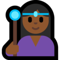 Woman Mage: Medium-Dark Skin Tone on Microsoft Windows 10 Fall Creators Update
