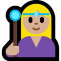 Woman Mage: Medium-Light Skin Tone on Microsoft Windows 10 Fall Creators Update