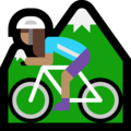 Woman Mountain Biking: Medium Skin Tone on Microsoft Windows 10 Fall Creators Update
