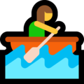 Woman Rowing Boat on Microsoft Windows 10 Fall Creators Update