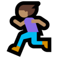 Woman Running: Medium Skin Tone on Microsoft Windows 10 Fall Creators Update