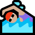 Woman Swimming: Medium-Light Skin Tone on Microsoft Windows 10 Fall Creators Update
