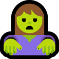 Woman Zombie on Microsoft Windows 10 Fall Creators Update
