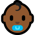 Baby: Medium-Dark Skin Tone on Microsoft Windows 10 April 2018 Update
