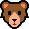 Bear Face on Microsoft Windows 10 April 2018 Update