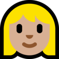 Blond-Haired Woman: Medium-Light Skin Tone on Microsoft Windows 10 April 2018 Update
