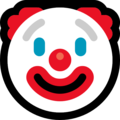 Clown Face on Microsoft Windows 10 April 2018 Update