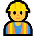 Construction Worker on Microsoft Windows 10 April 2018 Update