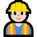 Construction Worker: Light Skin Tone on Microsoft Windows 10 April 2018 Update